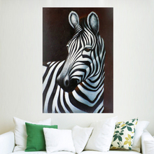 Abstract modern watercolor wall hanging spirit zebra oil painting on canvas