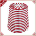 S&D eco-friendly handmade PE rattan durable red round outdoor bar stool