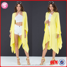 Sexy Yellow Modern Kimono New Fashion Girls Stylish Top