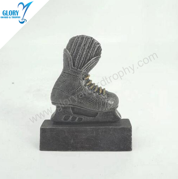 Cooper Shoes Shape Resin Trophy Of Ice Hockey Puck Award