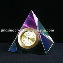 k9 Crystal pyramid table Clock