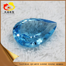 Facets cut pear shape natural blue topaz cut stone