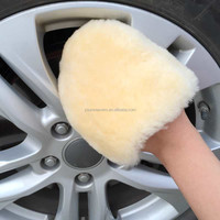 Four Finger Car Wash Pad Sheepskin Wash Mitt Wool Wheel Wash Mitt