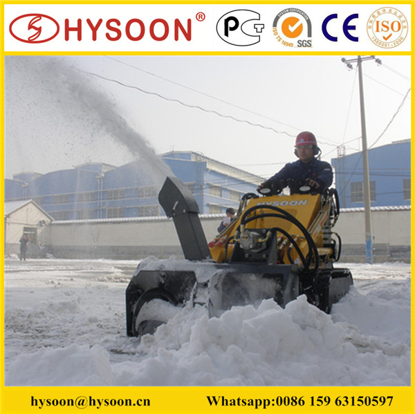 Hysoon skid steer snow cleaning machine