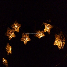 10 LEDs rattan Star Battery Operated LED Fairy Light string/ Christmas decorative light/ home decorations with CE & ROHS
