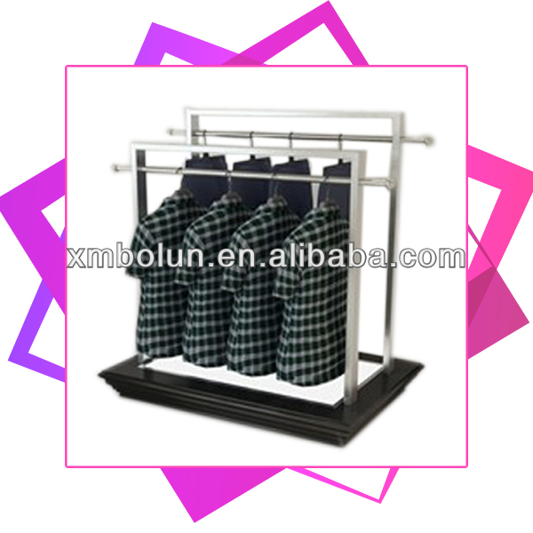 Custom hight quality promotional fashionable metal hanging clothes display racks