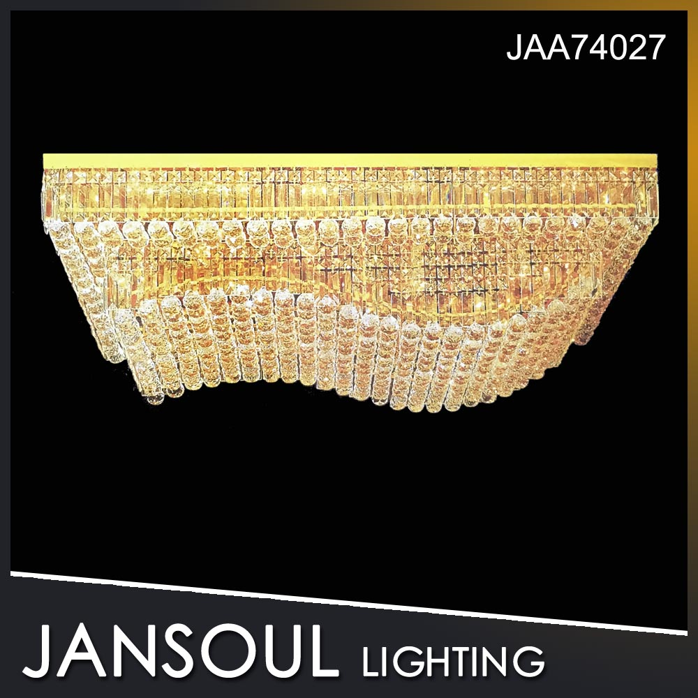 Jansoul Most Popular Chrome/Clear Retractable Ceiling Light Fixtures