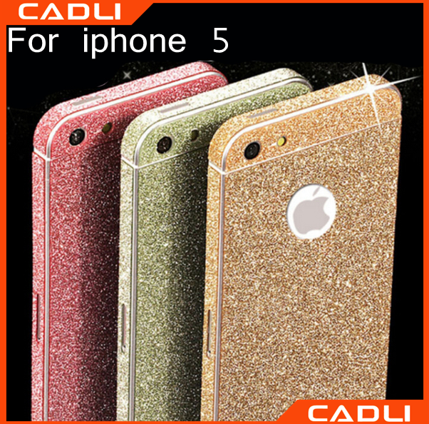 hot sell shine screen protector glitter shine sticker full cover screen protector screen protector for iphone 5s