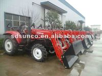 CE Approved ! Wheeled tractor 1404,140 hp tractor with 4 in 1 bucket Front End Loader