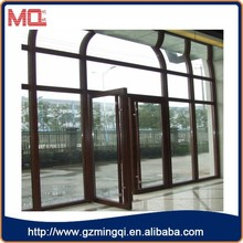 fancy design old indian doors aluminum double casement door in guangzhou factory