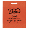 halloween Boo orange Die Cut bags-imprinted Halloween bags