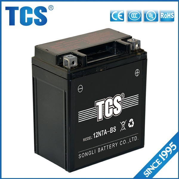12v7 battery with best price and service made in China one of auto and motorcycle parts