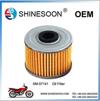 High performance manufacture motorcycle oil filter of motorcycle spare part