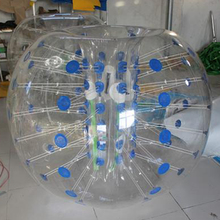 Inflatable human size bubble soccer ball for body collide