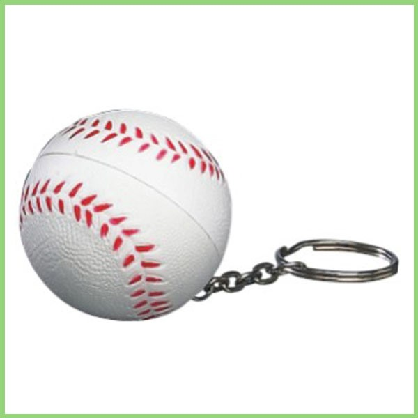 New Arrival Antistress PU Mini Baseball Keychain