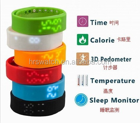 2016 custom color Promotional Gift LED watch Flashing Bracelet Women led wristband watch