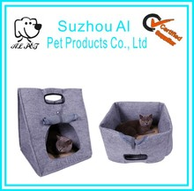 Three Usages Portable Outdoor Travel Foldable Kitten Beds Cave Cat Bag Carrier