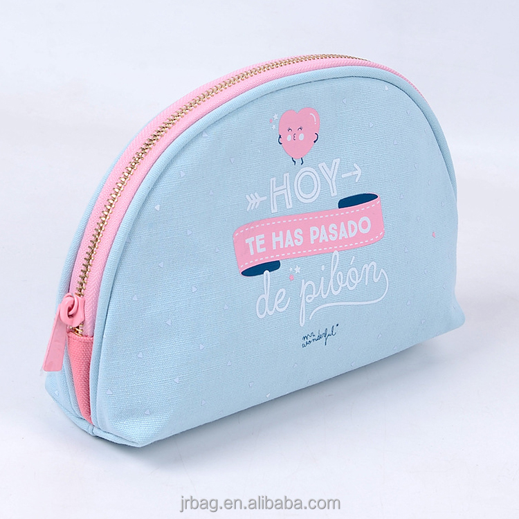 Promotional professional lady cotton canvas Makeup Cases