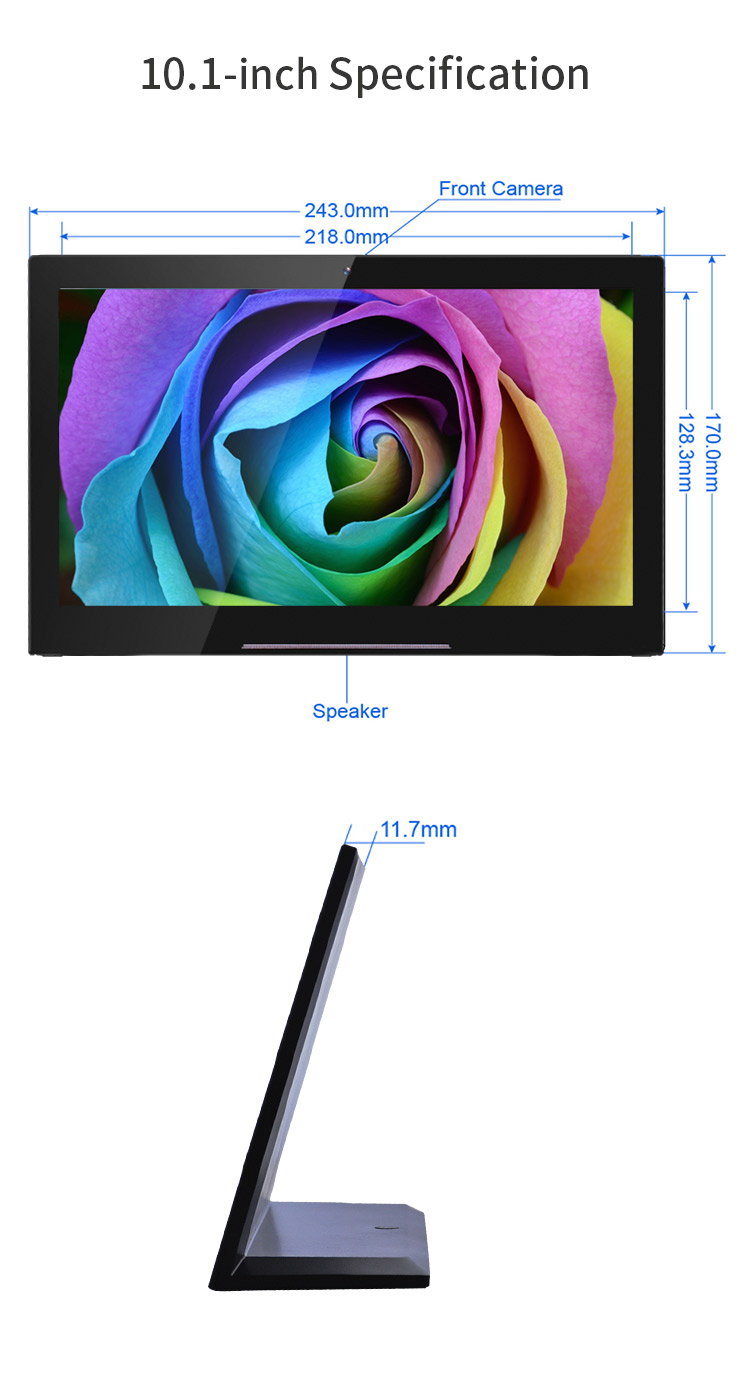 Ultra thin 5 Point capacitive touch screen android tablet 10 inch pc
