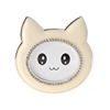 Baby cat shape white silver plating photo frame crystal oval metal photo frame