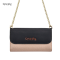 For iphone 8 Handbag Style PU Leather Case Card Holder Shoulder Strap Metal Chain Wallet Case for iphone 8