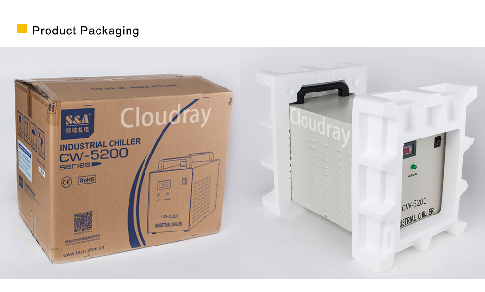 Cloudray CL501 S & EEN Industriële Water Chiller Model CW3000/CW5000/CW5200/CW5202