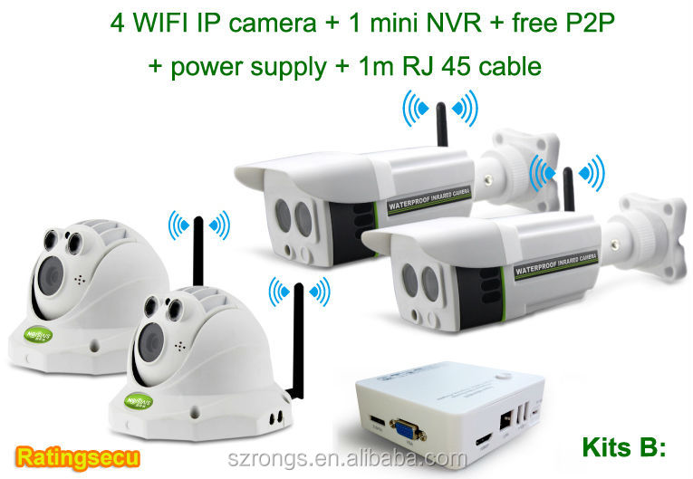 Home security 720P IP IR mini cctv camera nvr kit(Kit B)