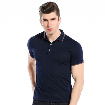 100 cotton pique new design yarn dye striped collar custom man polo t shirt