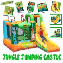 Happy Hop Inflatable Bouncer-9171N Jungle Jumping Castle