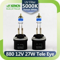 XENCN 880 H27W 12V 27W 5000K Teleeye Intense Light Halogen Car Bulbs Replace Upgrade Fog Lamp