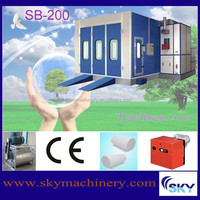 SB300, industrial paint spraying booth auto repair shop design