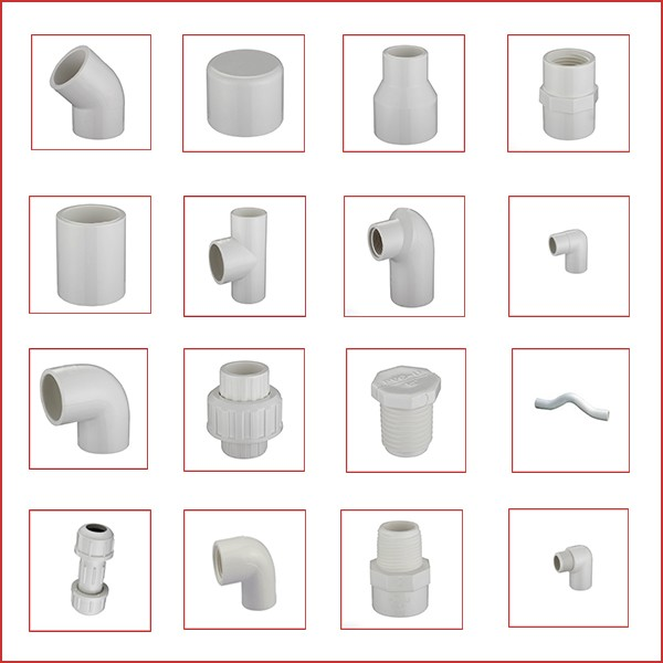 Hot product ASTM sch40 pvc pipes and pipe fittings for water supply
