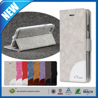 C&T New style popular leather smart cover case for iphone 6 plus