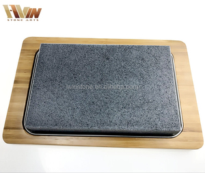Wholesale Steak Stone And Plate/Hot Rock Cooking Stone Set For Restaurant