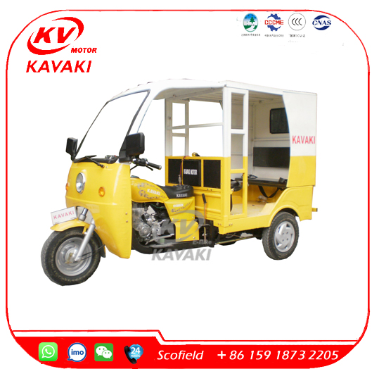 Hot Selling Bajaj Motor Trike Passenger Tricycle Taxi for Sale