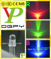 5mm rgb led diode/4-pin rgb led diode 5mm round Common Anode Common Cathode ( CE & RoHS Compliant )
