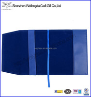 Top grade unique blue leather expandable file folder with plastic inserts