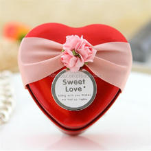 Heart shaped wedding candy tin box containers