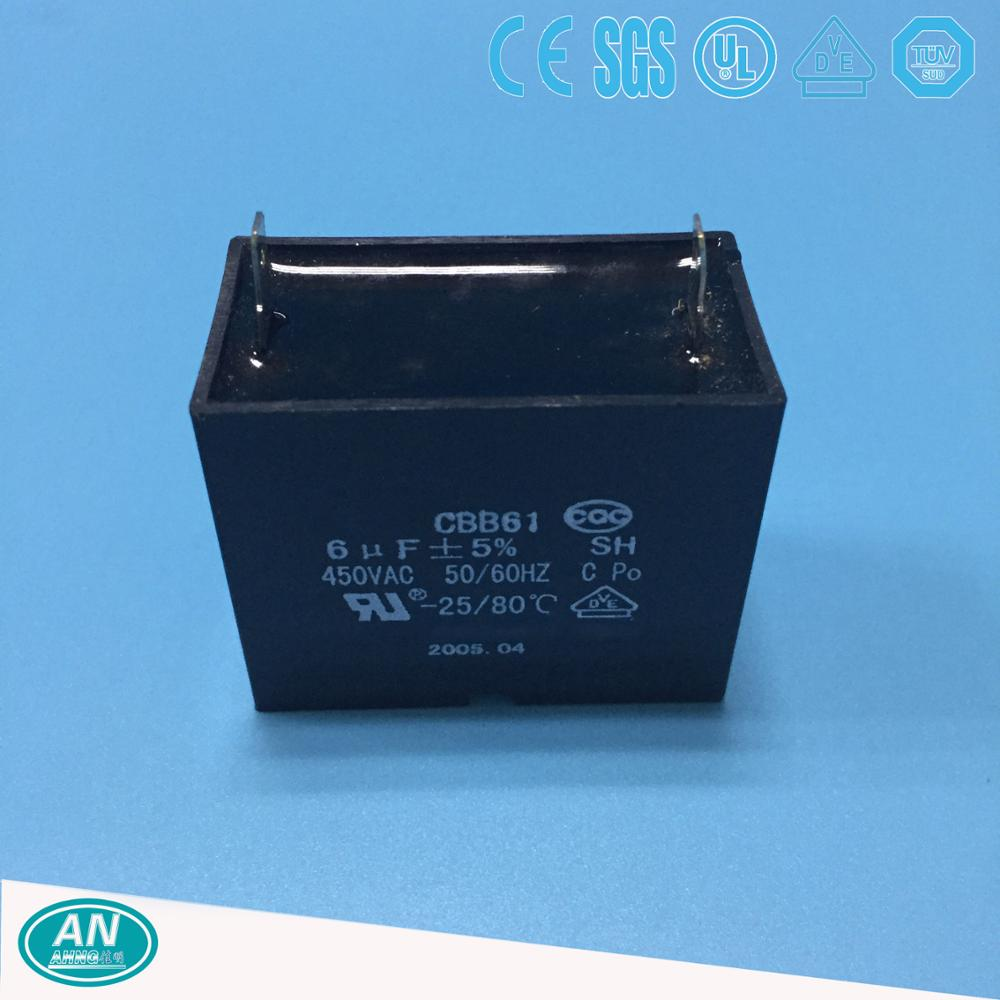 CBB61 fan capacitor 6uf 450V