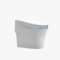 White Toilet Super Swirl One Piece Toilet S-trap Floor Mounted Bathroom Smart Toilet