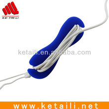Soft Silicone Material Cable Ties, Earphone Wrap Cable Tidy