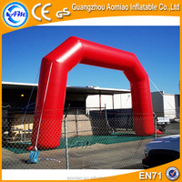Red inflatable wedding arches, custom made pvc inflatable arch for sale