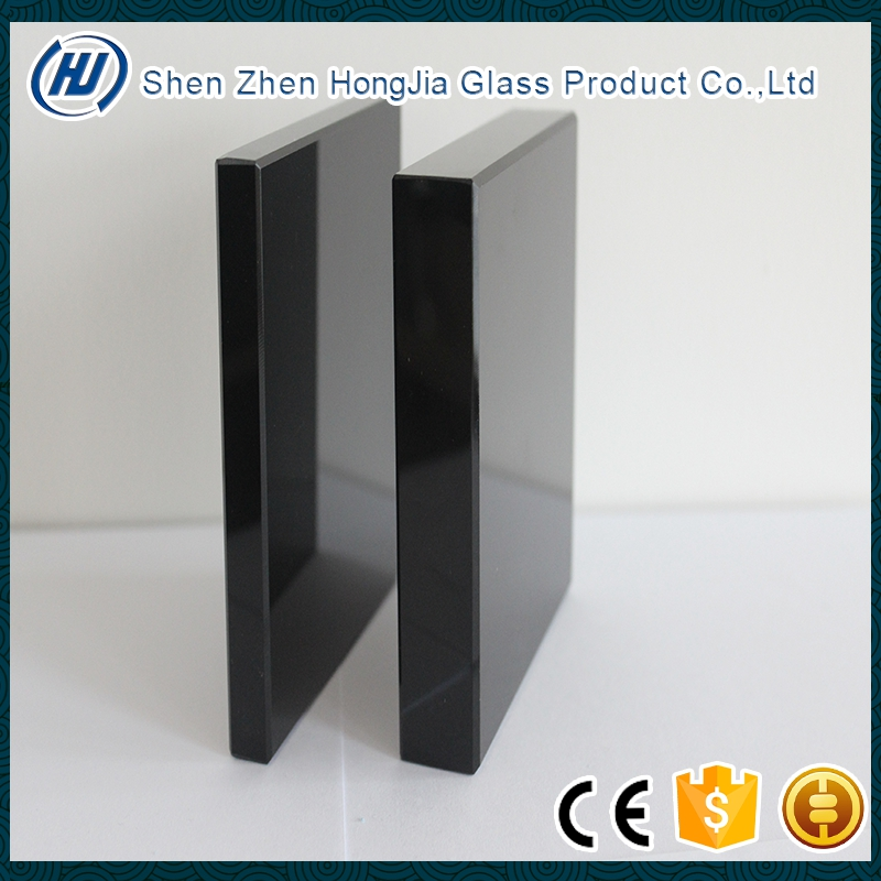 black tinted glass sheet for decorative glass