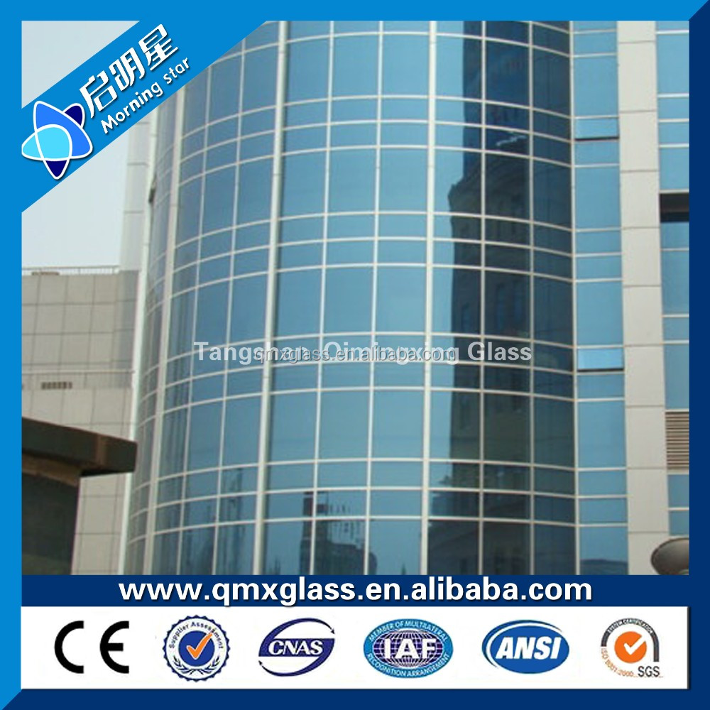 China clear and colored float / reflective / tinted laminated tempered glass for table , stair and building