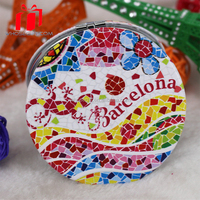 Latest wholesale Fashion foldable diamante gift mirror cute pocket mirror