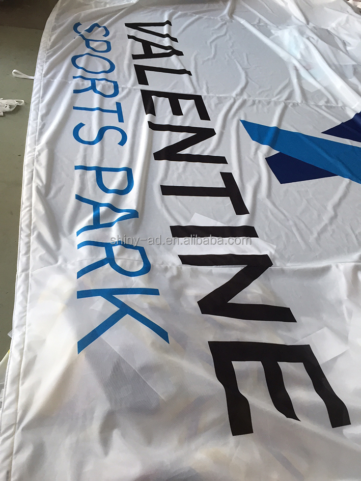 die sublimation printed flags for outdoor events