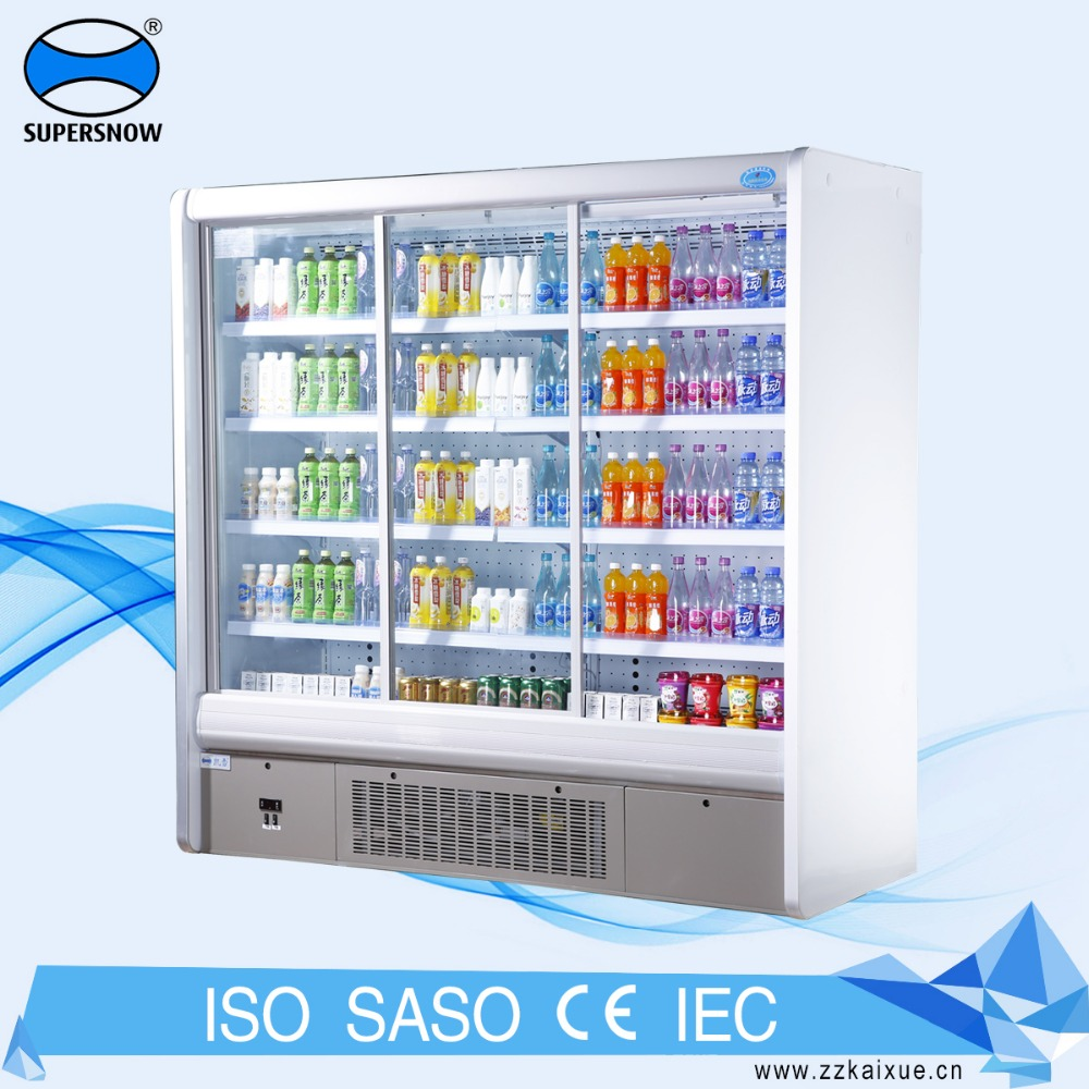 Wall Mounted Commercial Soft Drink Display Refrigerator For sale