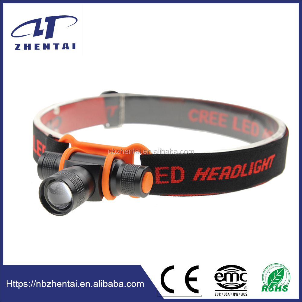 ZT-6801, Led powerful and zoomable head flashlight headlamp with cree xre q5 bulb