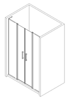 Brand new stainless steel aluminum doors for room parts