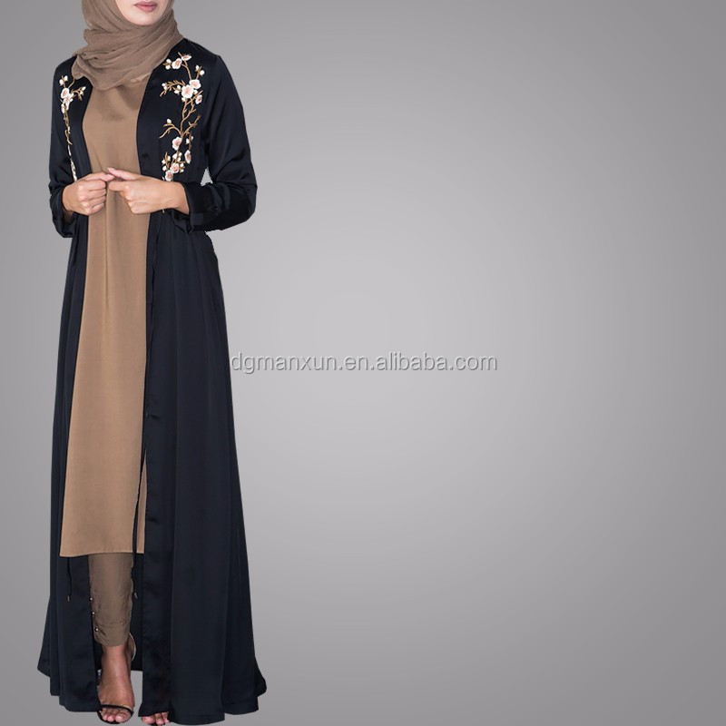 Pakistani Burqa Designs Latest Fashion Cardigan Embroidered Open Abaya Black Muslim Long Clothes For Ladies (2).jpg